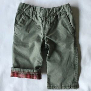 Gap khakis size 6 12 months flannel lined boys
